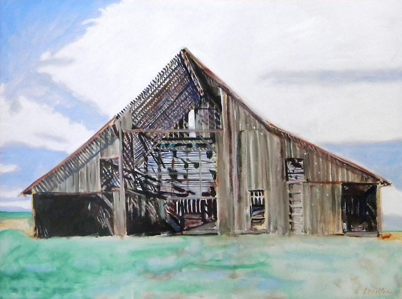 """""""Underhill Barn"""" by Lynn Miller"""